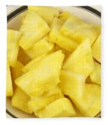 Chunks Of Pineapple Fleece Blanket
