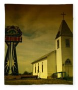 Church And Casino Those Two Angels  Fleece Blanket