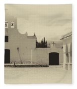 Church And Courtyard Argentina Fleece Blanket