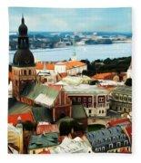 Church And River Fleece Blanket
