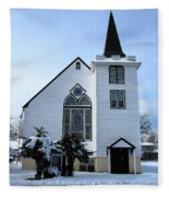 Paramus Nj - Church And Steeplechurch And Steeple Fleece Blanket
