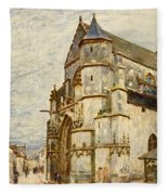 Church At Moret After The Rain Fleece Blanket