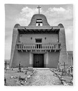 Church At San Ildefonso - Bw Fleece Blanket
