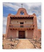 Church At San Ildefonso Fleece Blanket