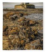 Church By The Rocks Fleece Blanket