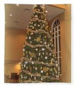 Church Christmas Tree Fleece Blanket