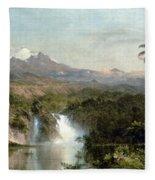 Church: Cotopaxi, 1857 Fleece Blanket