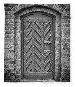Church Door 02 Fleece Blanket