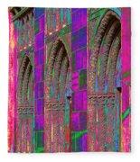 Church Doors Pop Art Fleece Blanket