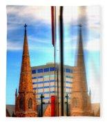 Church Downtown Denver 5074 Fleece Blanket