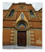 Church Entrance. Palazzolo Fleece Blanket