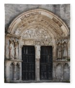 Church Entrance - St  Thibault Fleece Blanket
