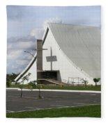 Church In Brazilia Fleece Blanket