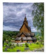 Church In Norway Fleece Blanket