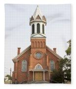 Church In Sprague Washington Fleece Blanket