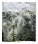 Church In The Clouds Fleece Blanket