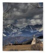 Church In The Hills Fleece Blanket