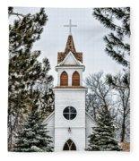 Church In The Woods Fleece Blanket