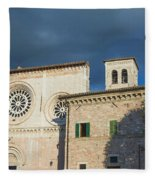 Church Of  Di San Pietro In Assisi Fleece Blanket