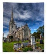 Church Of Marble Fleece Blanket