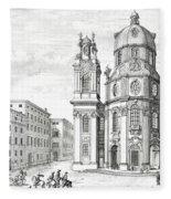 Church Of Notre Dame, Salzburg Fleece Blanket