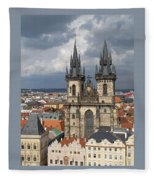Church Of Our Lady Before Tyn - Prague Fleece Blanket
