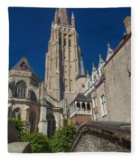 Church Of Our Lady In Bruges Fleece Blanket