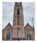 Church Of St Lawrence In Rotterdam Fleece Blanket