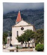 Church Of St.mark Makarska Fleece Blanket