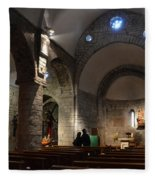 Church Of The Assumption Of Mary In Bossost Fleece Blanket