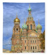 Church Of The Saviour On Spilled Blood. St. Petersburg. Russia Fleece Blanket