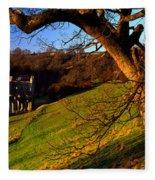 Church On A Landscape, Rievaulx Abbey Fleece Blanket