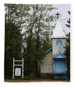 Church On Alaskan Highway Fleece Blanket