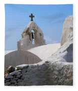 Church On Mykonos Fleece Blanket
