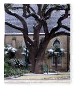 Church On Rosedale With A Dusting Of Snow Fleece Blanket
