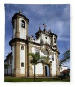 Church Ouro Preto Brazil 5 Fleece Blanket