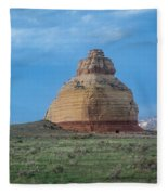 Church Rock On The Road To Moab Fleece Blanket