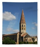 Church Saint Marcel - Cluny Fleece Blanket