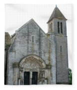 Church St Thibault- Burgundy Fleece Blanket