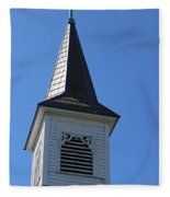 Church Steeple In Buckley Washington Fleece Blanket
