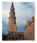 Church Street In Charleston Sc Fleece Blanket