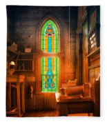 Church Vestibule Fleece Blanket