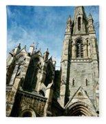 Church With An Eerie Feel Fleece Blanket