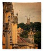 Churches In Town Fleece Blanket