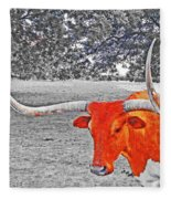 Cibolo Longhorn Fleece Blanket