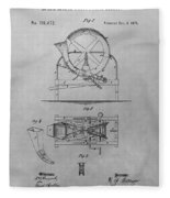 Cider Mill Patent Drawing Fleece Blanket