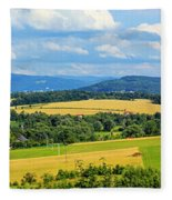 Cieszyn Beskidy Panorama Fleece Blanket