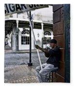 Cigar Shop On Bourbon Street New Orleans Fleece Blanket
