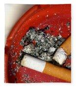 Cigarette Butts Fleece Blanket