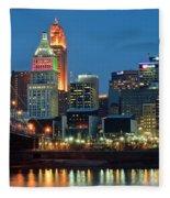 Cincinnati Blue Hour Fleece Blanket